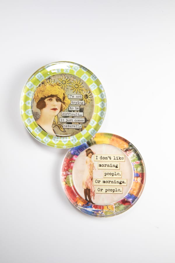Snarky Recycled Glass Coaster Set of 2