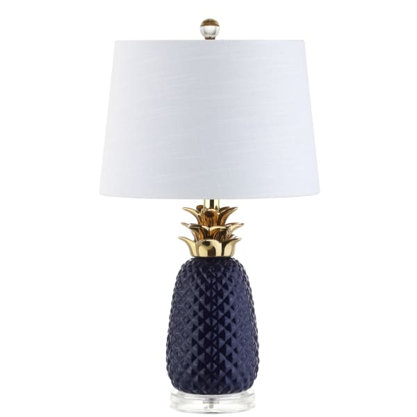 Navy & Gold Pineapple Table Lamp