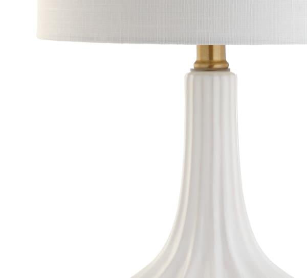 Delicate White Ceramic Table Lamp