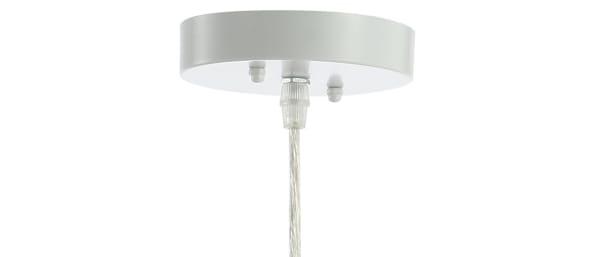 Woven Rattan Orb LED Pendant, White
