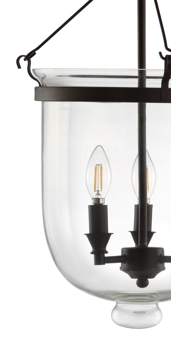 Metal/Glass LED Semi-Flush Mount, Oil Rubbed Bronze