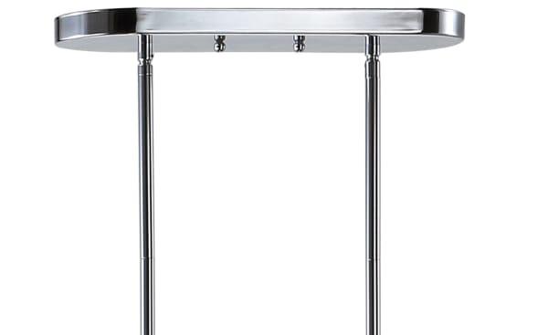 4-light Linear Metal/Crystal LED Pendant, Chrome