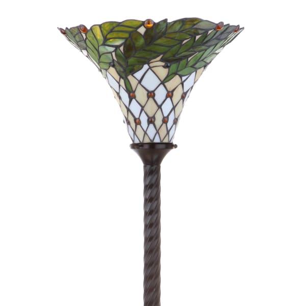 Botanical Tiffany Style 71 Torchiere Floor Lamp Bronze Pier 1