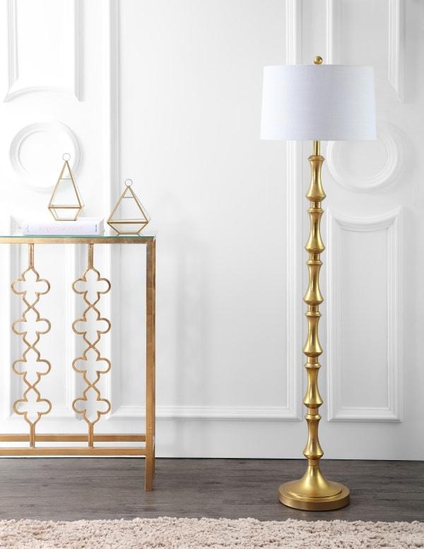Metal LED Floor Lamp, Gold