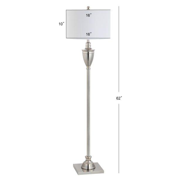 Metal LED Floor Lamp, Polished Nickel
