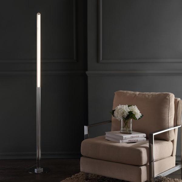 Integrated LED Metal Floor Lamp, Chrome