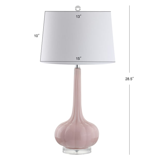 Glass Teardrop LED Table Lamp, Pink (Set of 2)
