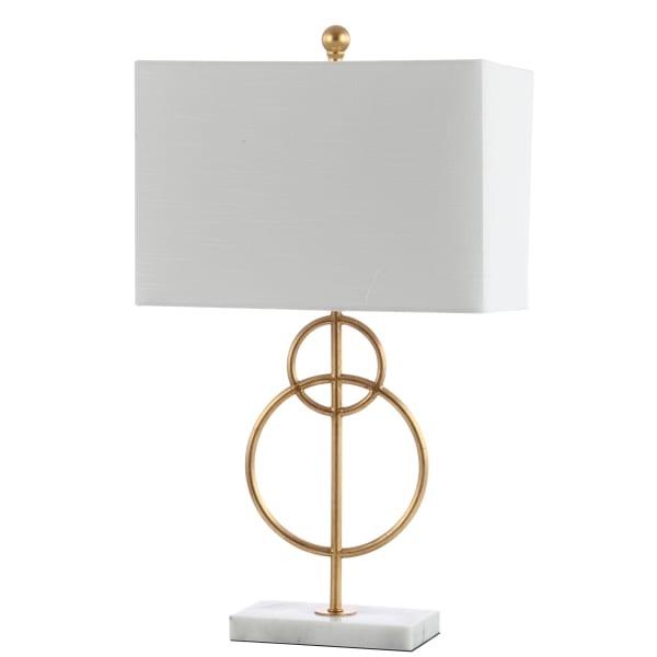 Modern Circle Marble/Metal LED Table Lamp, Gold