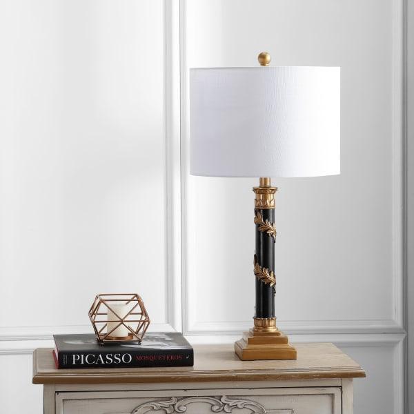 Resin LED Table Lamp, Antique Gold/Black