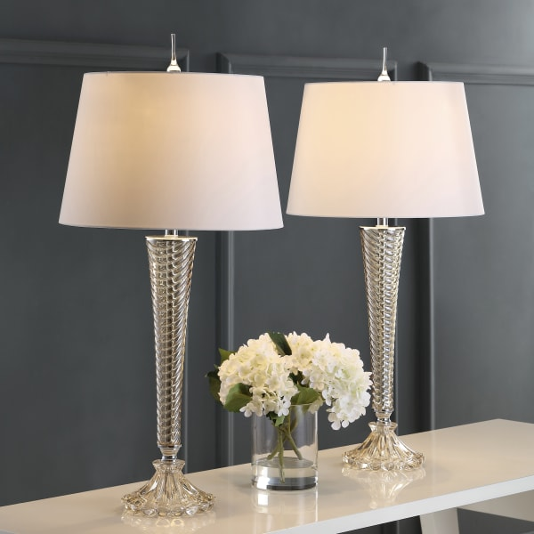 Glass LED Table Lamp, Champagne (Set of 2)