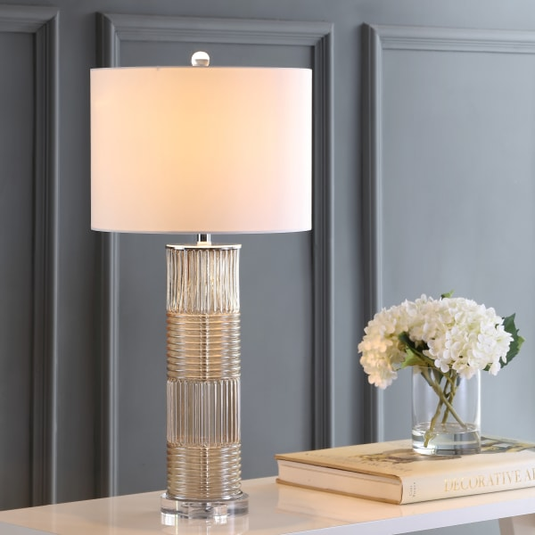Glass/Crystal LED Table Lamp, Champagne