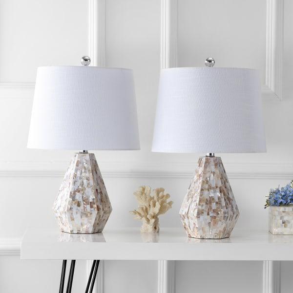 Seashell LED Table Lamp, Natural Ivory (Set of 2)