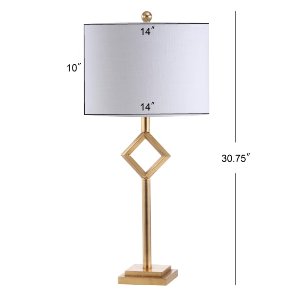 Metal/Resin Table Lamp, Gold Leaf