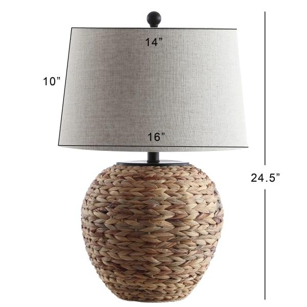 Banana Leaf Basket LED Table Lamp, Natural