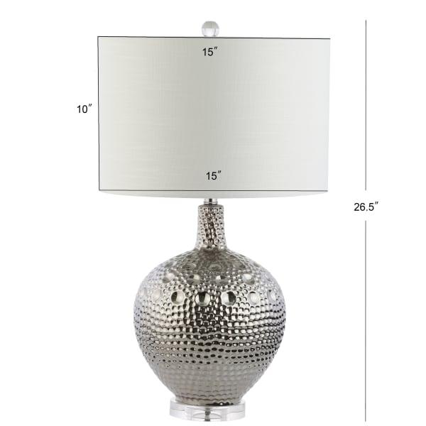 Ceramic LED Table Lamp, Chrome