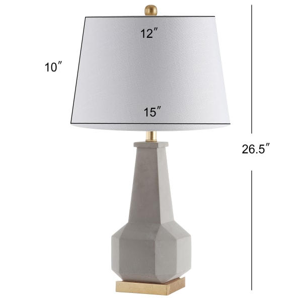 Ariel Cement LED Table Lamp, Gray