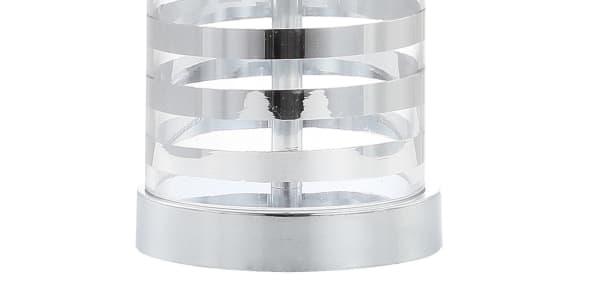 Glass LED Table Lamp, Clear/Chrome