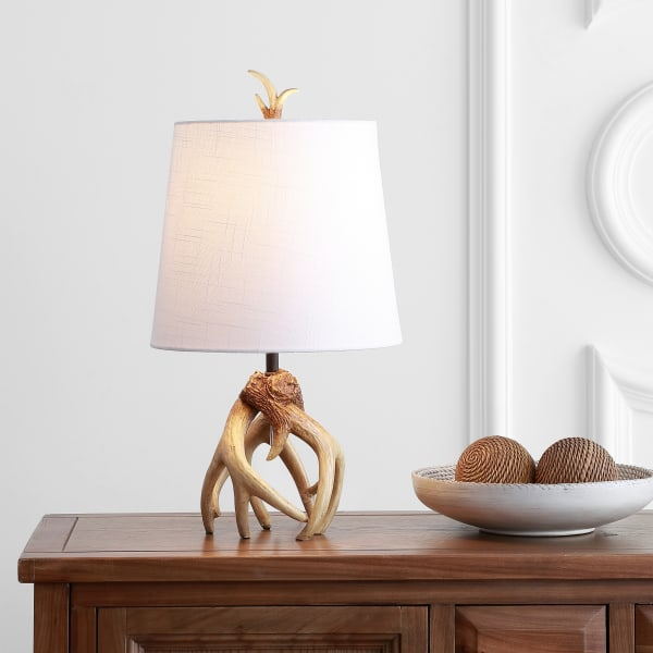 Antler Resin LED Table Lamp, Natural