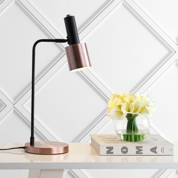 Metal LED Task Table Lamp, Copper/Black