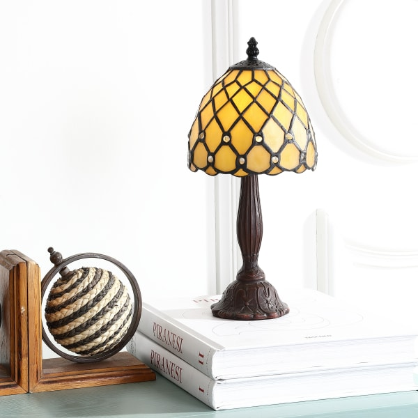 Campbell Tiffany-Style LED Table Lamp, Bronze