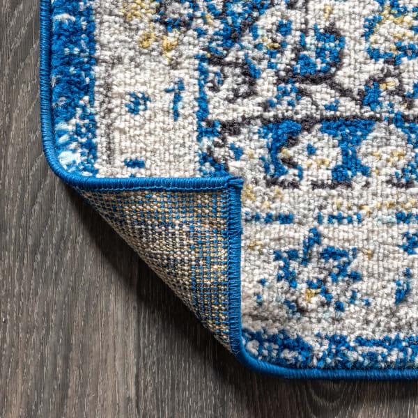Bohemian FLAIR Boho Vintage Medallion Blue/Cream 5' x 8' Area Rug