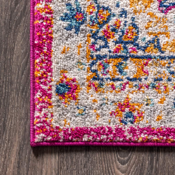 Bohemian FLAIR Boho Vintage Medallion Pink/Cream 8' x 10' Area Rug