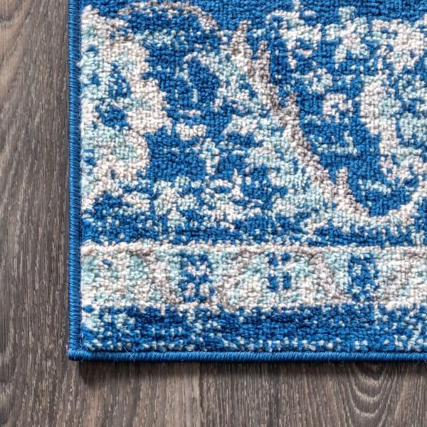 Bohemian FLAIR Boho Vintage Medallion Cream/Blue 5' x 8' Area Rug