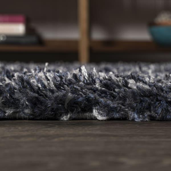 Shag Plush Denim Blue Area Rug