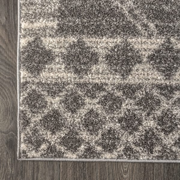 Moroccan Beni Souk Gray/Cream 4' x 6' Area Rug