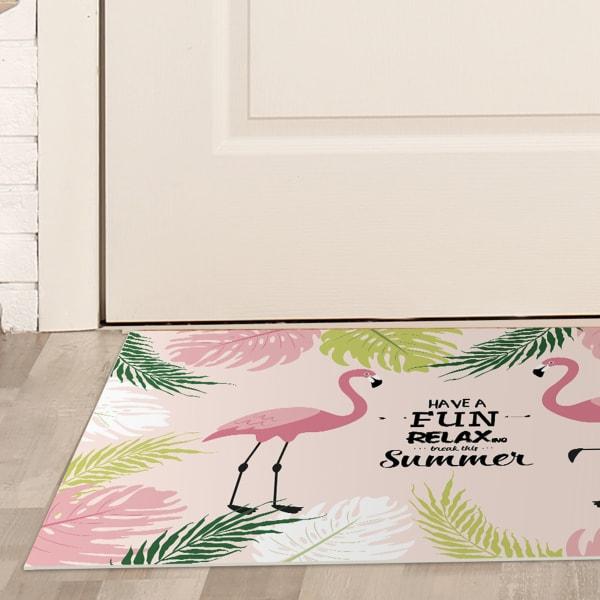 Tropical Flamingo Print Vinyl 2' x 3' Floor Mat
