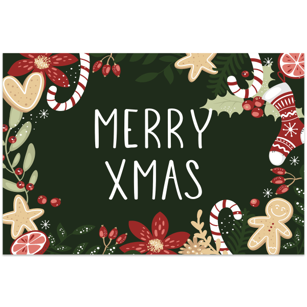 Merry Christmas Indoor Vinyl 2' x 3' Floor Mat