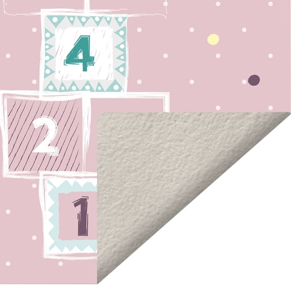 Pink Hopscotch Vinyl 2' x 5' Floor Mat