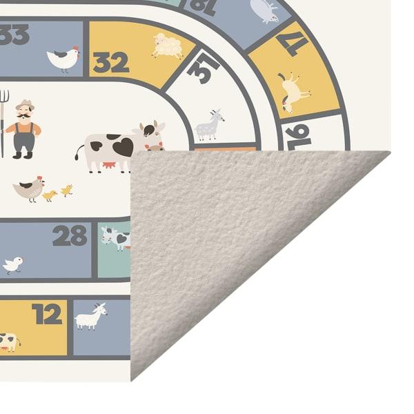 Farmhouse Hopscotch Vinyl 2' x 5' Floor Mat
