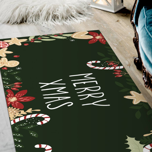 Merry Christmas Indoor Vinyl 2' x 5' Floor Mat
