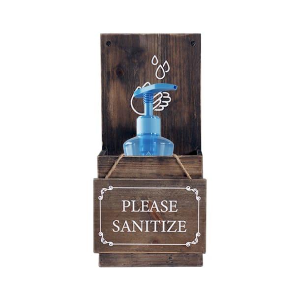 Welcome Sign with Hand Sanitizer Dispenser Holder