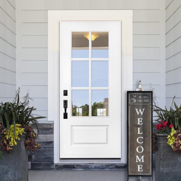 Porch Welcome Sign with Hand Sanitizer Dispenser Holder