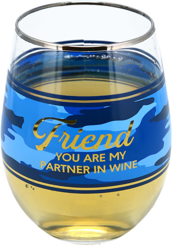Friend Stemless Wine Glass