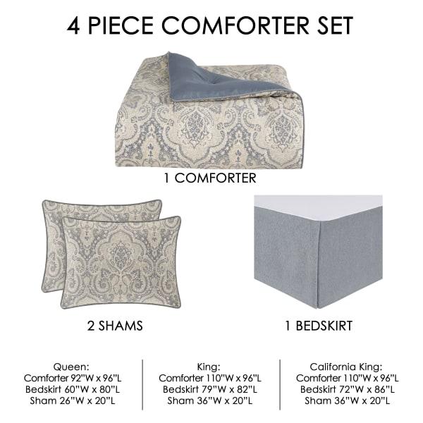 Angelo Spa California King 4Pc. Comforter Set