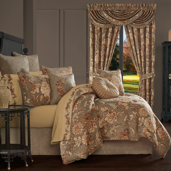 Carmella Rust Queen 4Pc. Comforter Set