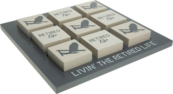 Retired Life Tic-tac-toe Set
