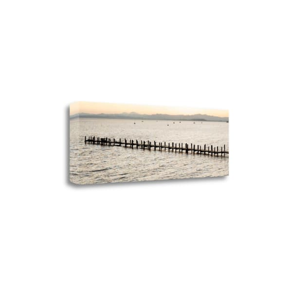 Vintage Pier Morning VIsta By Alan Blaustein Wrapped Canvas Wall Art