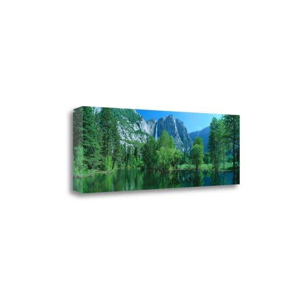Yosemite Falls And Merced By Alain Thomas Wrapped Canvas Wall Art