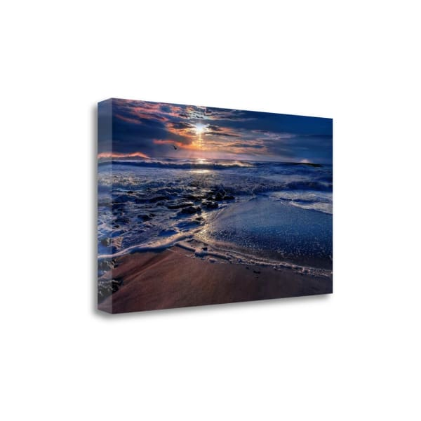 Deep Blue By Natalie Mikaels Wrapped Canvas Wall Art