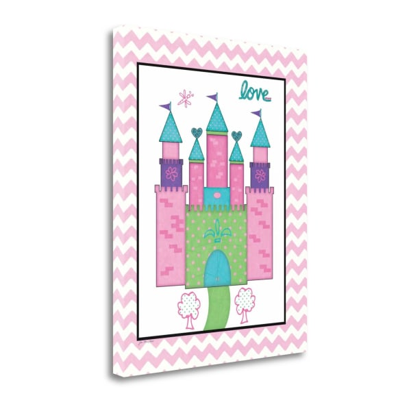 Princess Castle By Jo Moulton Wrapped Canvas Wall Art