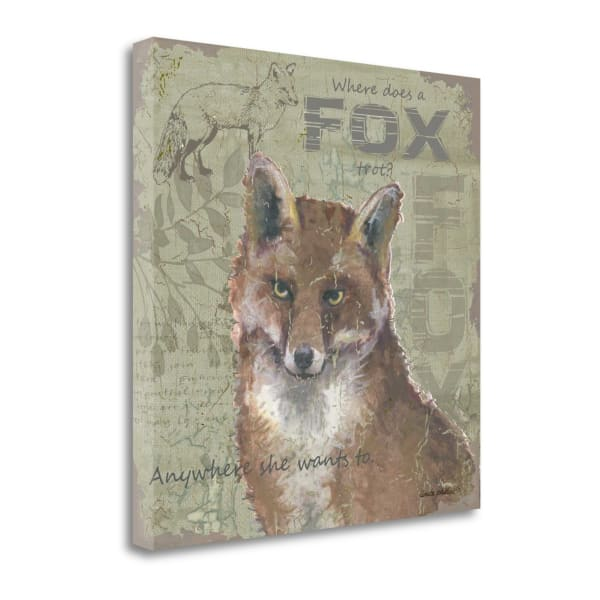 Where Does A Fox Trot By Anita Phillips Wrapped Canvas Wall Art
