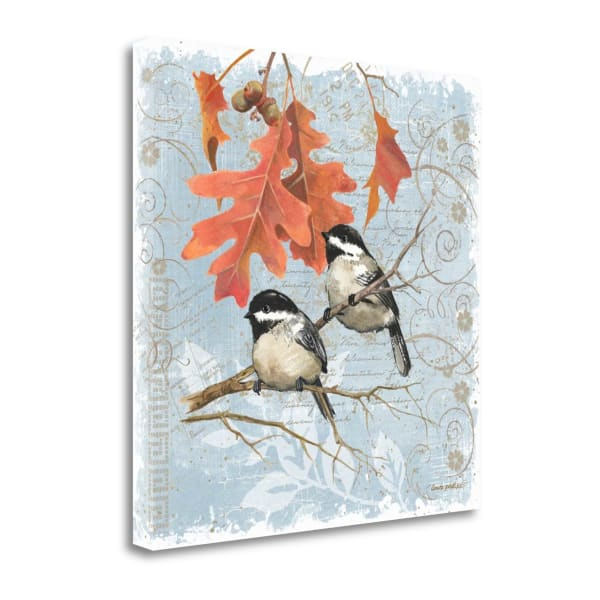 Chickadees IV By Anita Phillips Wrapped Canvas Wall Art