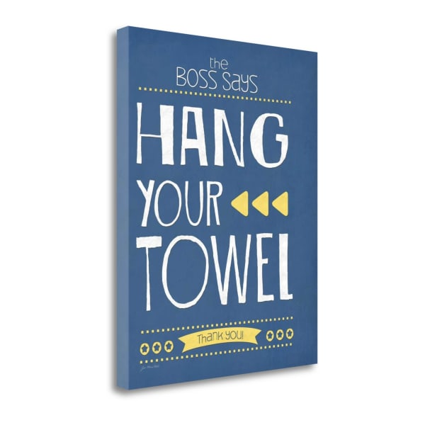 Hang Your Towel By Jo Moulton Wrapped Canvas Wall Art