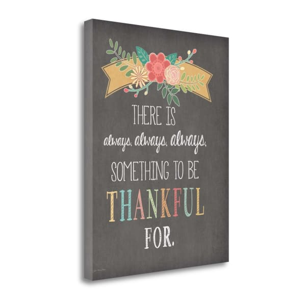 Always Always Always Thankful By Jo Moulton Wrapped Canvas Wall Art