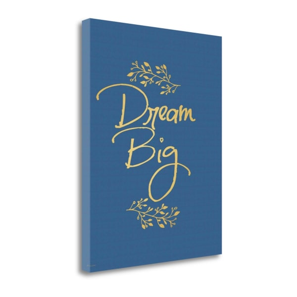 Faux Gold Dream Big By Jo Moulton Wrapped Canvas Wall Art