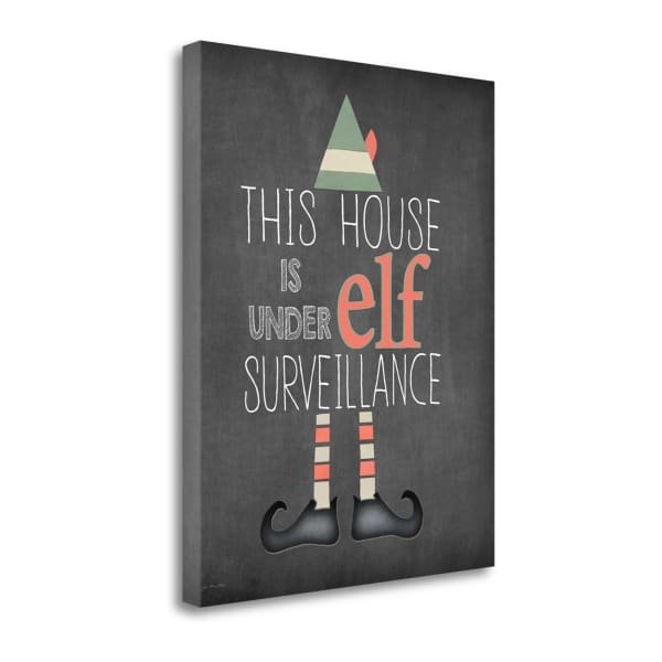 Elf Surveillance By Jo Moulton Wrapped Canvas Wall Art